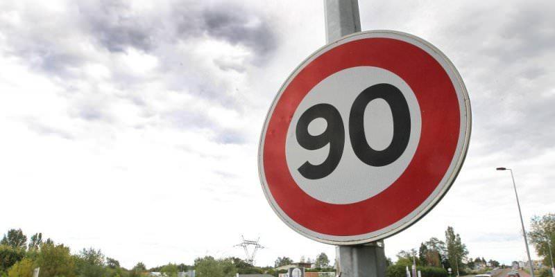 La limitation à 80km/h sur les routes secondaires