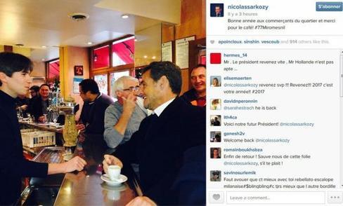 Retour de Sarkozy sur instagram