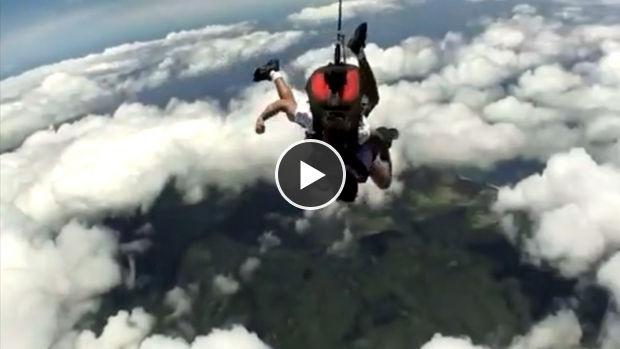 Un parachutiste perd connaissance en plein saut