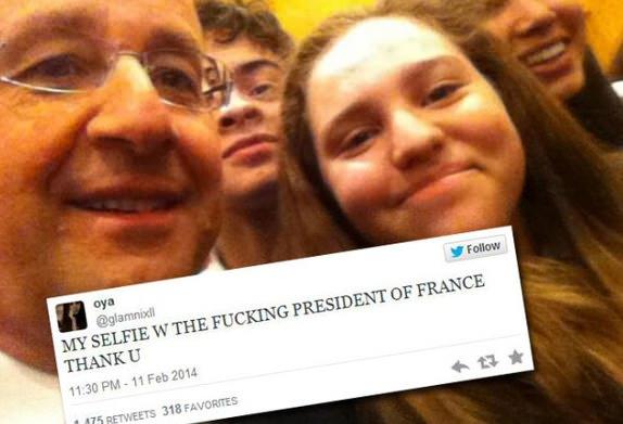 Sale quart d'heure pour un Selfie