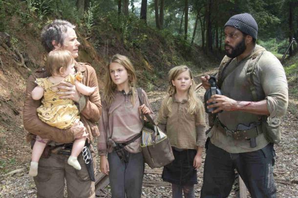 The Walking Dead saison 4 : Carol, Lizzie, Mika et Judith mettent le cap sur le Terminus
