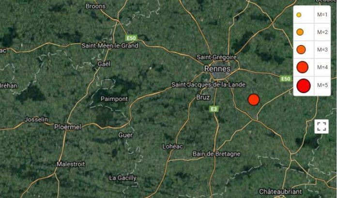 Bretagne: un tremblement de terre de 3,9 ressenti à Rennes