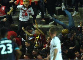 Barrière effondrée à stade Amiens: six blessés toujours en observation