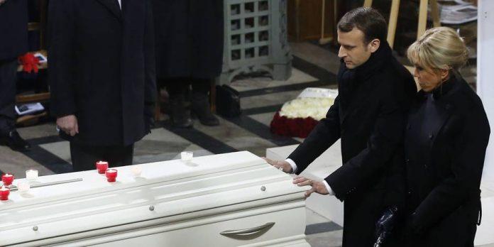 Macron n'a pas béni le cercueil de Johnny Hallyday, mais pourquoi?