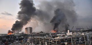Beyrouth : trois hôpitaux détruits en une seconde (détail)