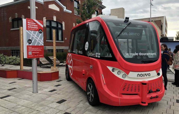 Projet pilote : des navettes autonomes mises en service aux abords de la Plaza Saint-Hubert