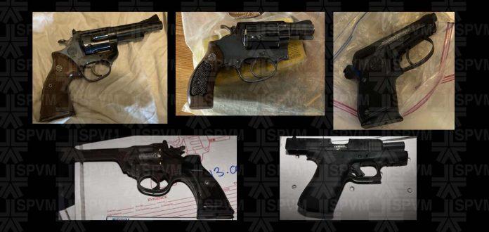 Deux opérations liées aux stupéfiants mènent à la saisie de cinq armes à feu